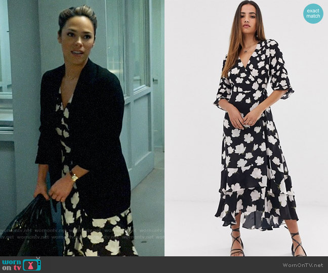 All Saints Delana Caro Dress worn by Emily Lopez (Jessica Camacho) on All Rise