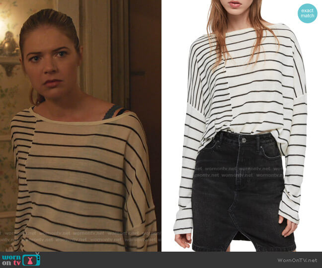 Cali Stripe Sweater by All Saints worn by Tami Tamietti (Kate Miner) on Shameless