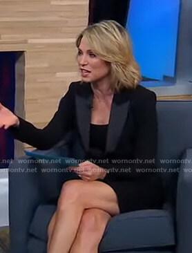Amy's black blazer dress on Good Morning America