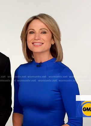 Amy's blue dress on Good Morning America