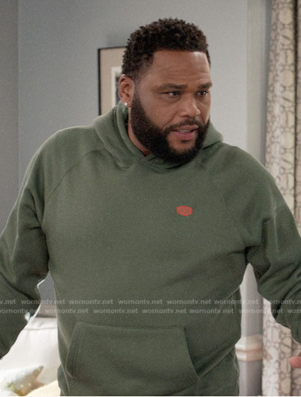 Andre's green hoodie on Black-ish