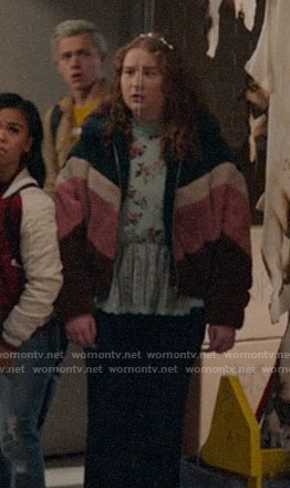 Ashlyn's chevron teddy jacket on High School Musical The Musical The Series