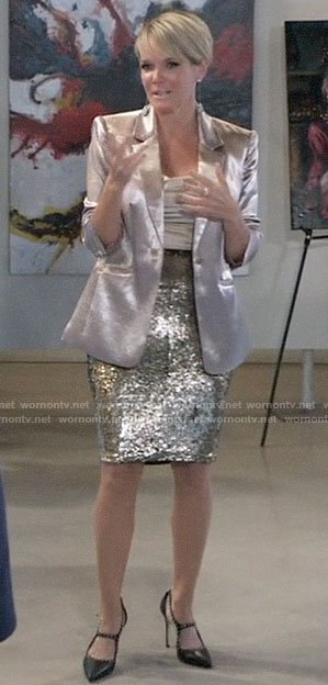 Ava's champagne blazer on General Hospital