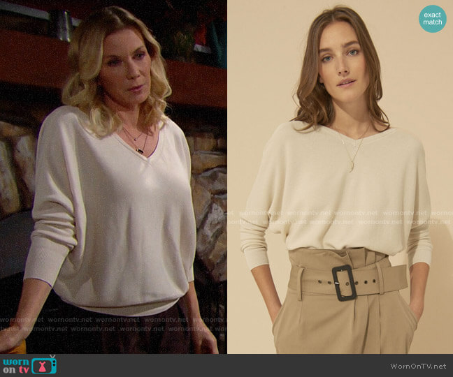 ba&sh Elsy Sweater worn by Brooke Logan (Katherine Kelly Lang) on The Bold & the Beautiful