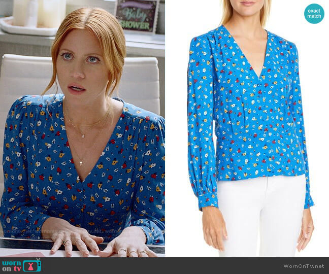 ba&sh Lali Top worn by Julia Bechley (Brittany Snow) on Almost Family