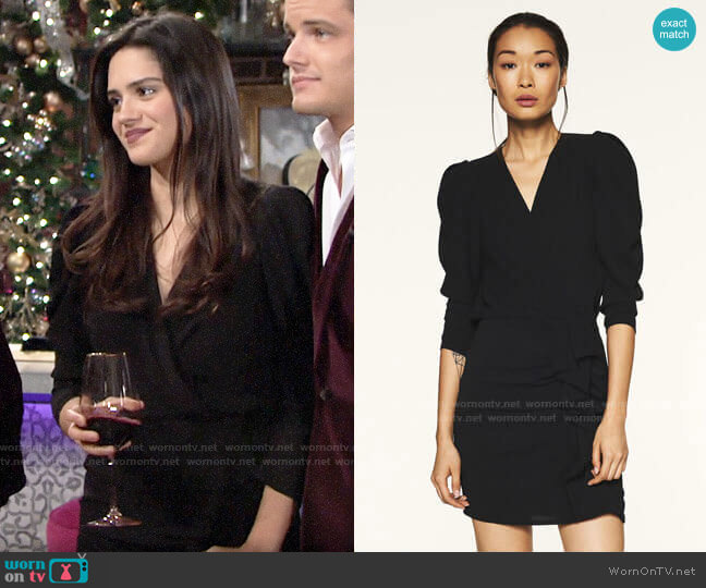 ba&sh Melinda Dress worn by Lola Rosales (Sasha Calle) on The Young & the Restless