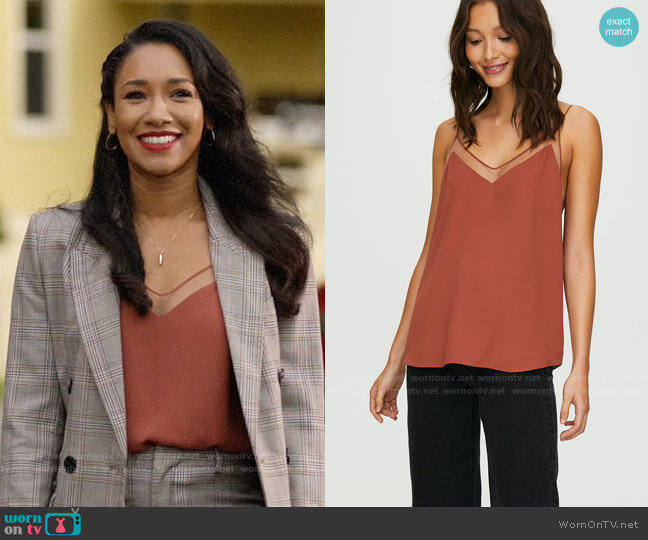 Aritzia Babaton Galen Camisole worn by Iris West (Candice Patton) on The Flash