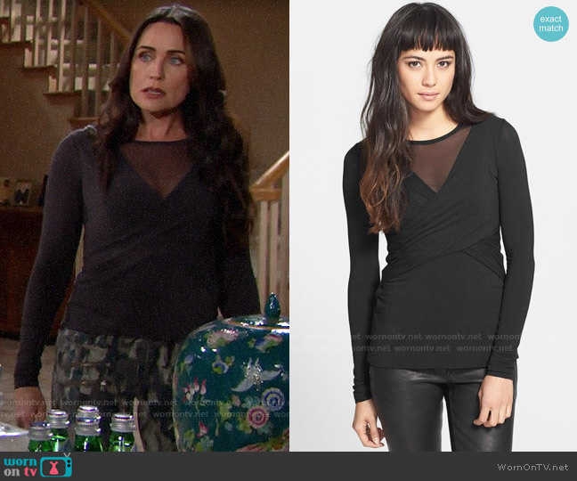 Bailey 44 Celestial Body Mesh Top worn by Quinn Fuller (Rena Sofer) on The Bold & the Beautiful