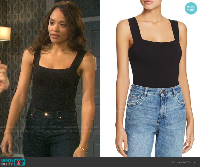 Bardot Mimi Bodysuit worn by Lani Price (Sal Stowers) on Days of our Lives