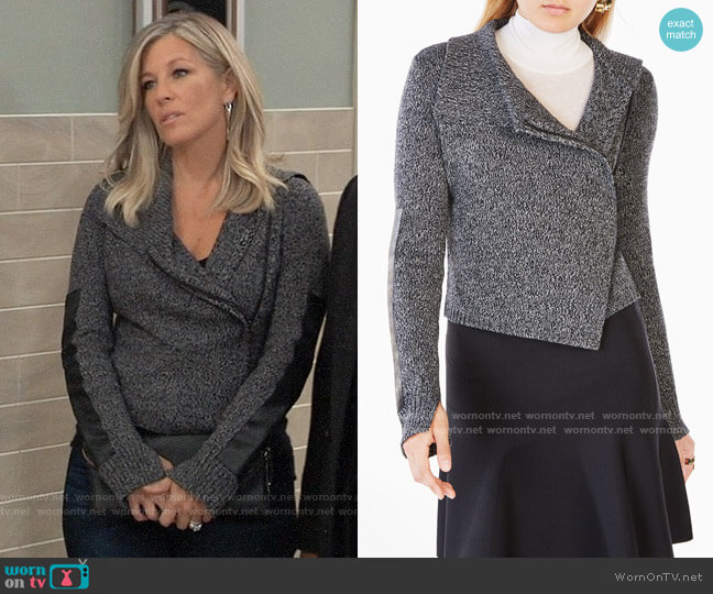 Bcbgmaxazria Colten Cardigan worn by Carly Corinthos (Laura Wright) on General Hospital