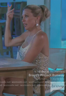 Braunwyn's floral embellished dress on The Real Housewives of Orange County