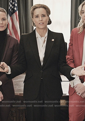 Elizabeth's black blazer on Madam Secretary