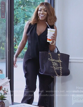 Porsha's black Chanel bag on The Real Housewives of Atlanta
