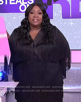 Loni's black fringe dress on The Real