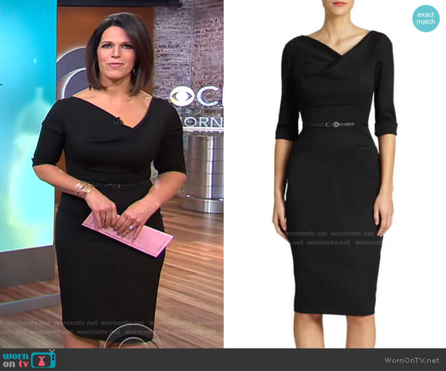 Jackie O Three-Quarter Sleeve Dress by Black Halo worn by Dana Jacobson  on CBS This Morning