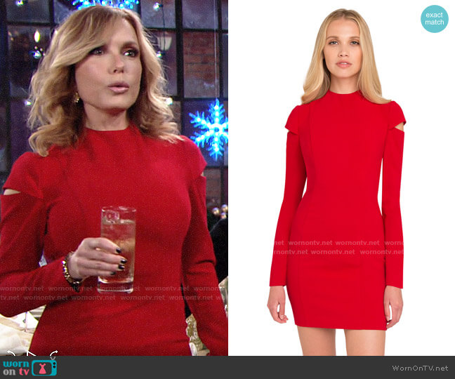 Black Halo Bonelli Dress worn by Lauren Fenmore (Tracey Bregman) on The Young & the Restless