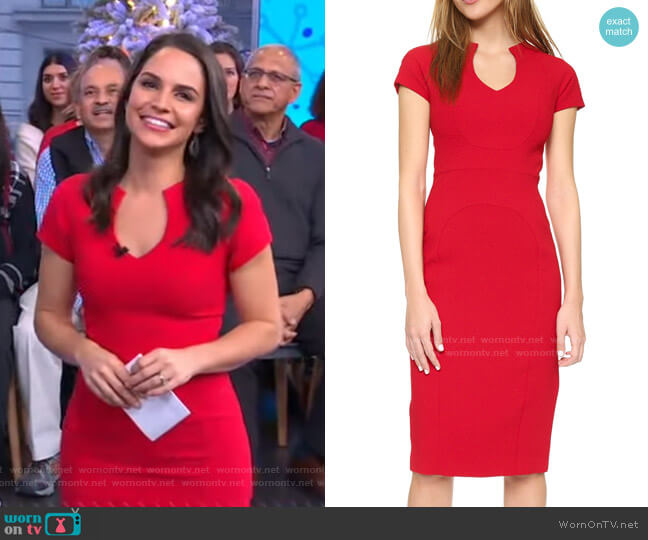 Gypsy Rose Sheath Dress by Black Halo worn by Diane Macedo on GMA