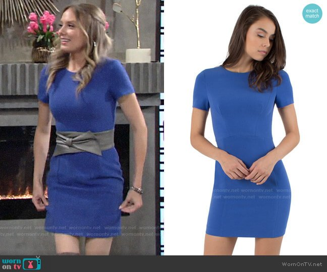 Black Halo Jodee Dress worn by Abby Newman (Melissa Ordway) on The Young & the Restless