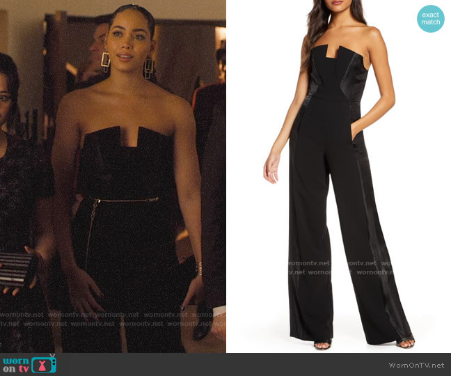 Black Halo Lena Jumpsuit worn by Macy Vaughn (Madeleine Mantock) on Charmed