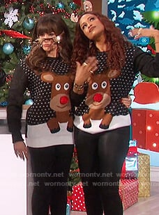Marie's ugly christmas sweater on The Talk