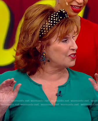 Joy's embellished headband on The View