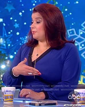 Ana's blue wrap dress on The View