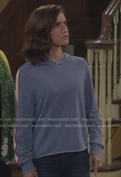 Ramona's blue sleeve stripe sweatshirt on Fuller House