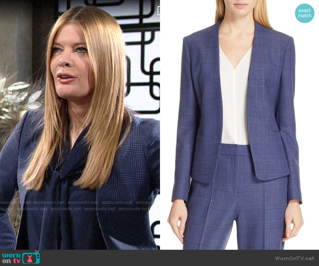 BOSS Jalesta Suit Jacket worn by Phyllis Summers (Michelle Stafford) on The Young & the Restless