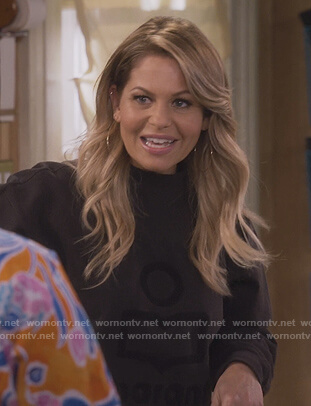 DJ's brown Isabel Marant logo sweater on Fuller House