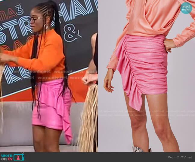 As It Goes Skirt by C/Meo Collective worn by Keke Palmer  on Good Morning America