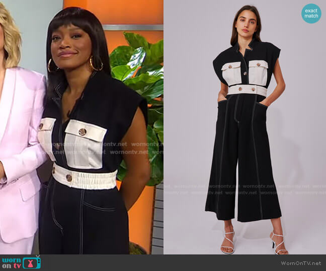 Consistent Jumpsuit by C/Meo Collective worn by Keke Palmer  on Good Morning America