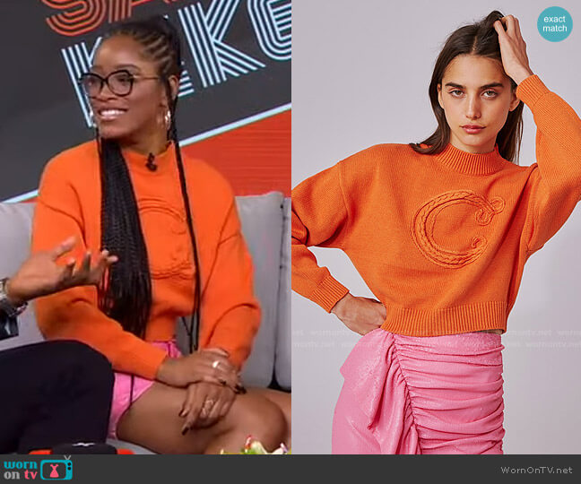 Correlative Knit Jumper by C/Meo Collective worn by Keke Palmer  on Good Morning America
