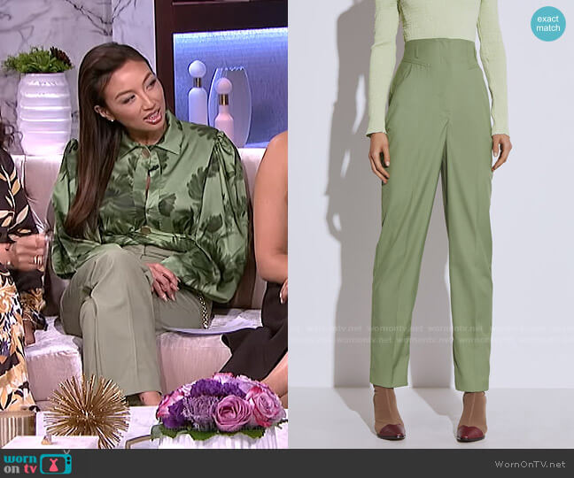 Just The Same Pant by C/Meo Collective worn by Jeannie Mai  on The Real