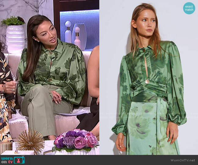 Renew Long Sleeve Top by C/Meo Collective worn by Jeannie Mai  on The Real