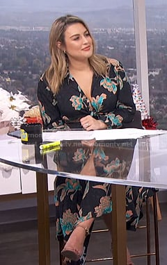 Carissa's black floral maxi dress on E! News Daily Pop