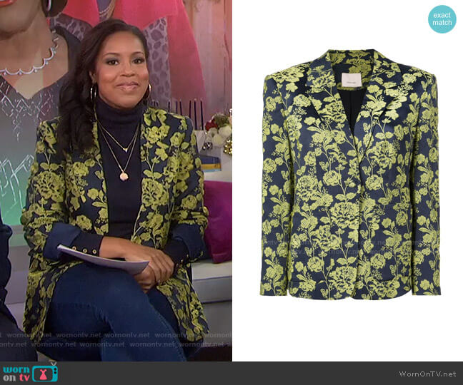 Janae Jacket by Cinq a Sept worn by Sheinelle Jones  on Today