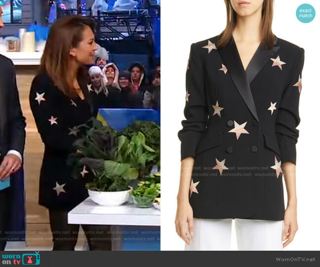 Lila Star Blazer by Cinq a Sept worn by Ginger Zee  on Good Morning America