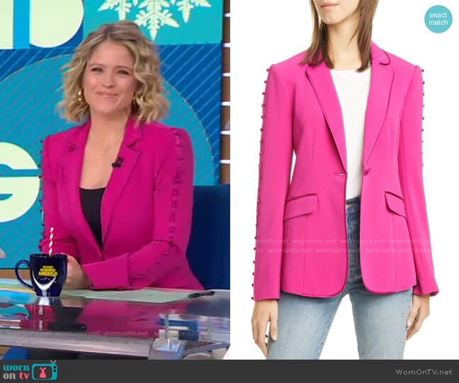Vivi Blazer by Cinq a Sept worn by Sara Haines  on Good Morning America