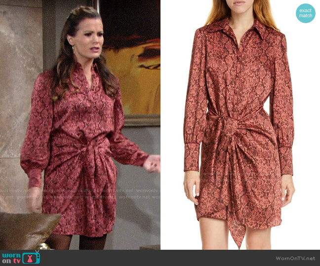 Cinq a Sept Gaby Python Dress worn by Chelsea Lawson (Melissa Claire Egan) on The Young & the Restless