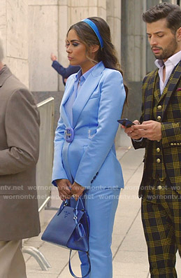 Cristal's blue blazer on Dynasty