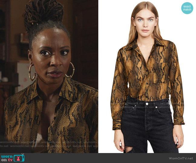 The Neal Shirt by Current/Elliott worn by Veronica Fisher (Shanola Hampton) on Shameless