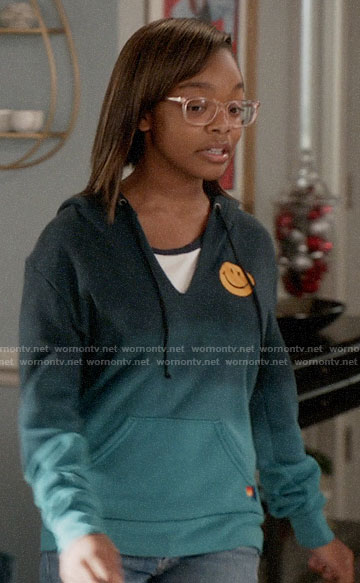 Diane's smiley face hoodie on Black-ish