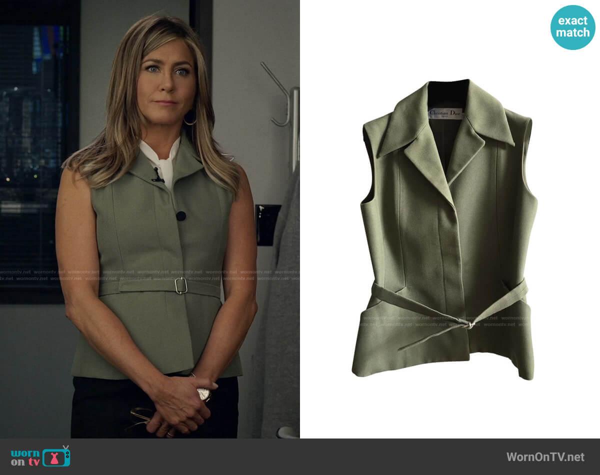 Dior Sleeveless Jacket Vest worn by Alex Levy (Jennifer Aniston) on The Morning Show