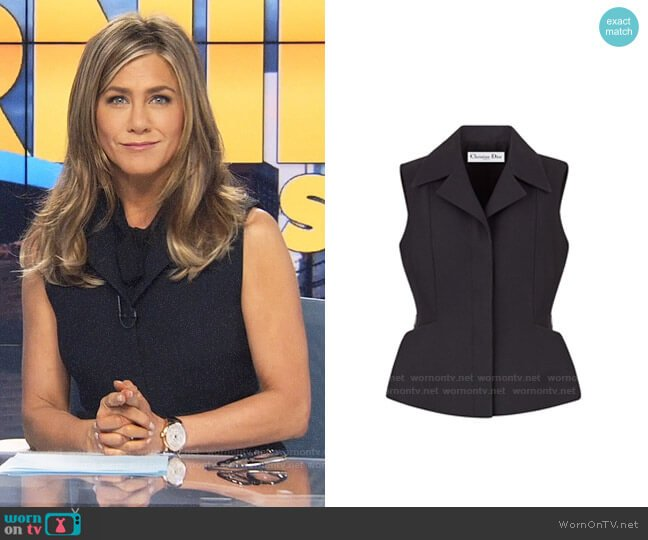 Dior Spring 2019 Wool & Silk Vest worn by Alex Levy (Jennifer Aniston) on The Morning Show