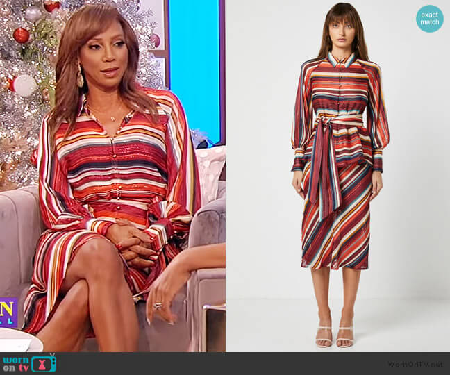 Edie Blouse and Skirt by Elliatt worn by Holly Robinson Peete on the Tamron Hall Show