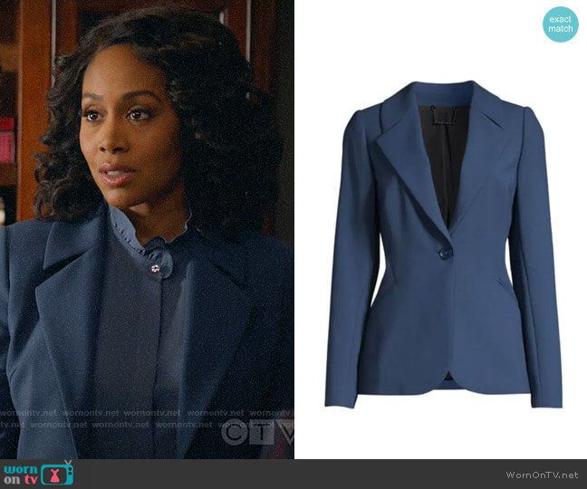 Elie Tahari Rein Jacket worn by Lola Carmichael (Simone Missick) on All Rise
