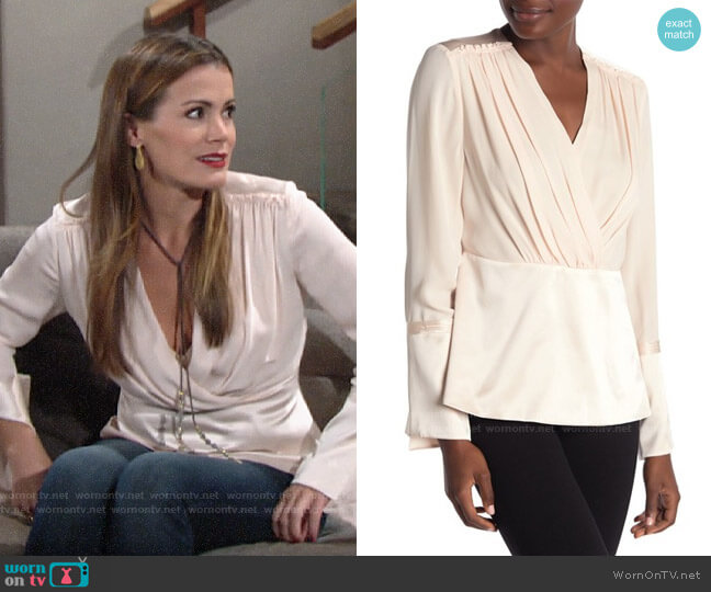 Elie Tahari Zina Blouse worn by Chelsea Lawson (Melissa Claire Egan) on The Young & the Restless