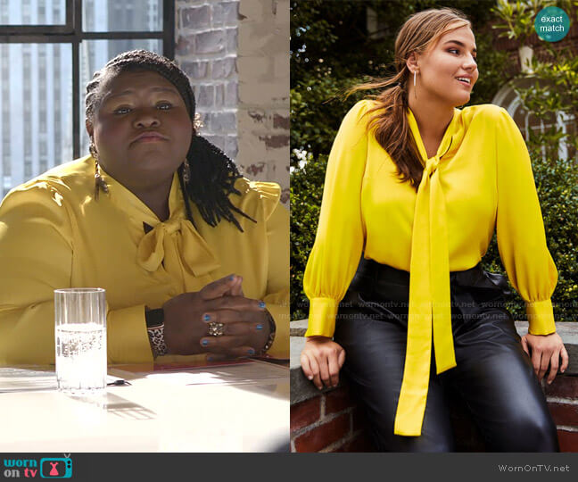 Tie Neck Blouse by Eloquii worn by Becky (Gabourey Sidibe) on Empire