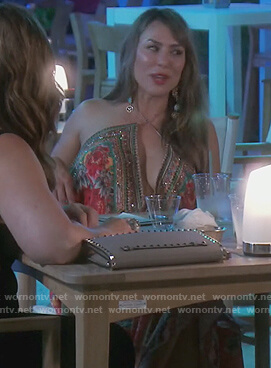 Kelly's embellished print dress on The Real Housewives of Orange County
