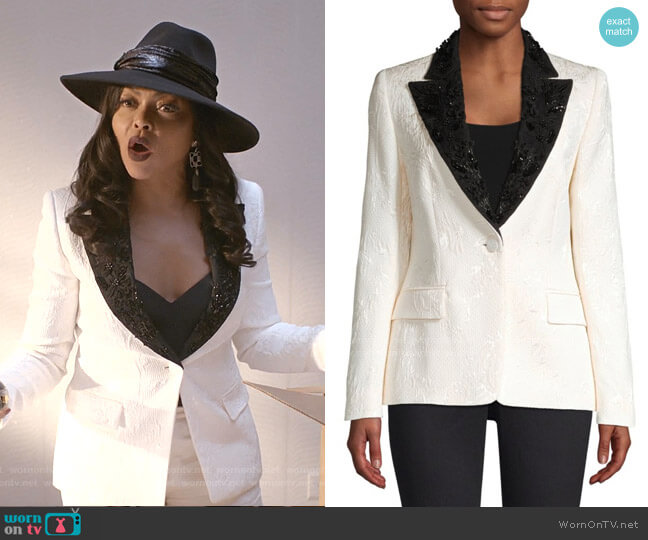 Brikenati Beaded Jacquard Dinner Jacket by Escada worn by Cookie Lyon (Taraji P. Henson) on Empire